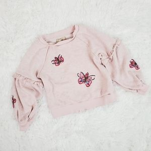 Peek Girls Pink Embellished Sweatshirt